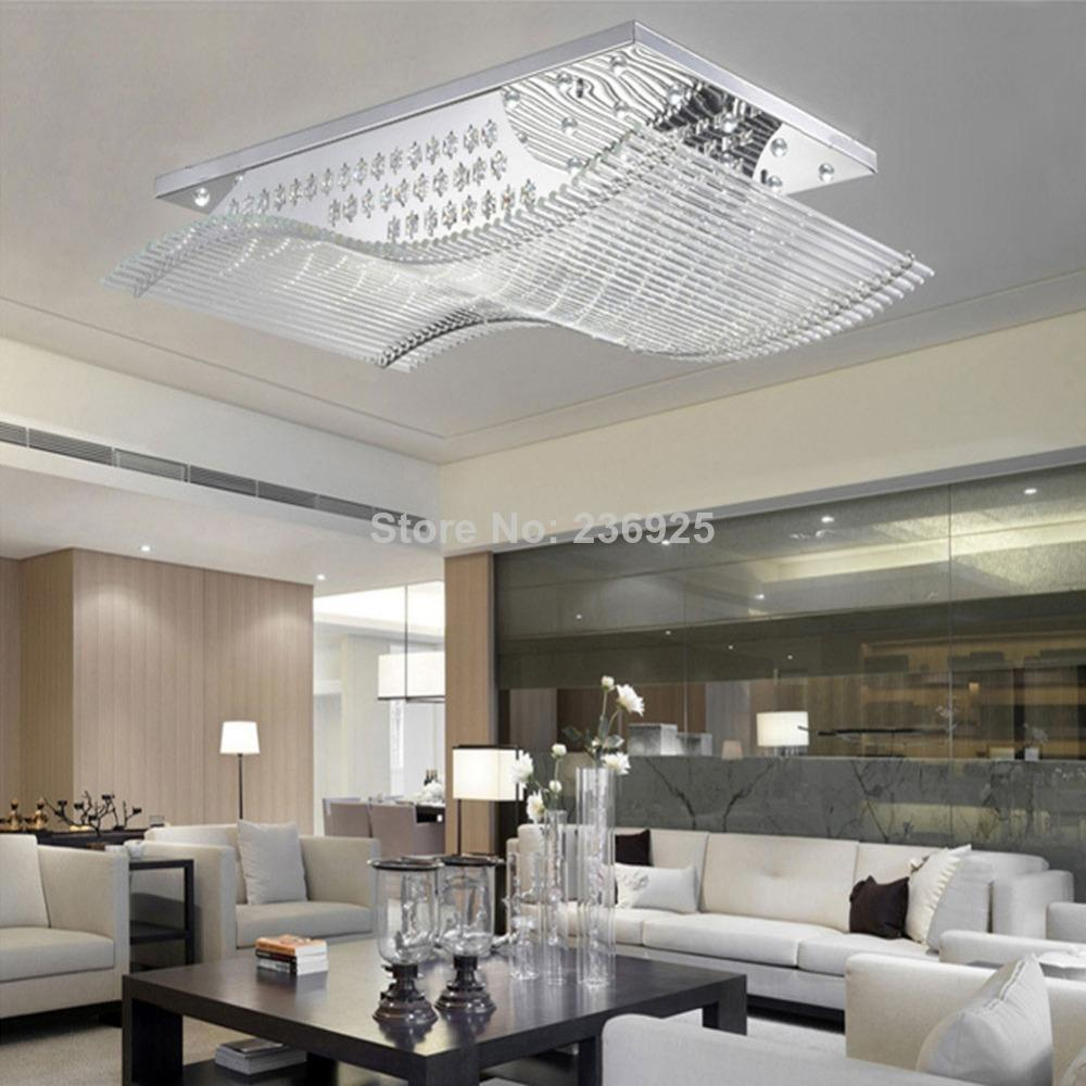 remote controls can change modern led crystal ceiling lights lustre fixture lamp for home living. Black Bedroom Furniture Sets. Home Design Ideas