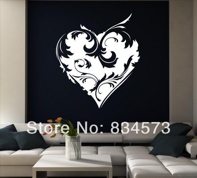 Wonderful Ornamental Heart Wall Stickers Decal Diy Home Decoration Wall Mural  Removable Sticker 40x46cm Mario Wall Decals Mario Wall Stickers From  Linzhaolan2, ... Idea