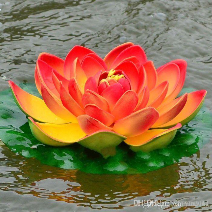 wholesale artificial flowers eva foam water lily lotus simulation, Natural flower