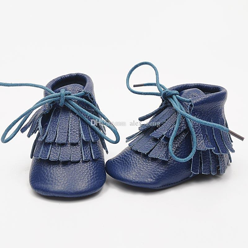 Baby moccasins soft sole tassels boot /booties moccasin infant girl boy lace-up leather shoes prewalker booties toddlers shoes