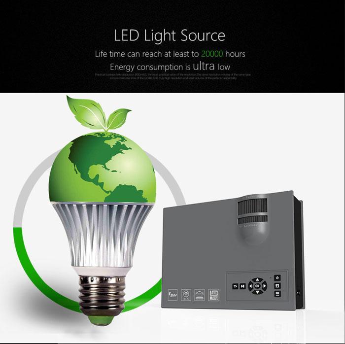 2016 Nouveau 1200 Lumens UNIC UC46 Portable HD LED Mini Poche WIFI Sans Fil Miracast Airplay Dlna Mobile De Poche De Maison Projecteur Beamer DHL