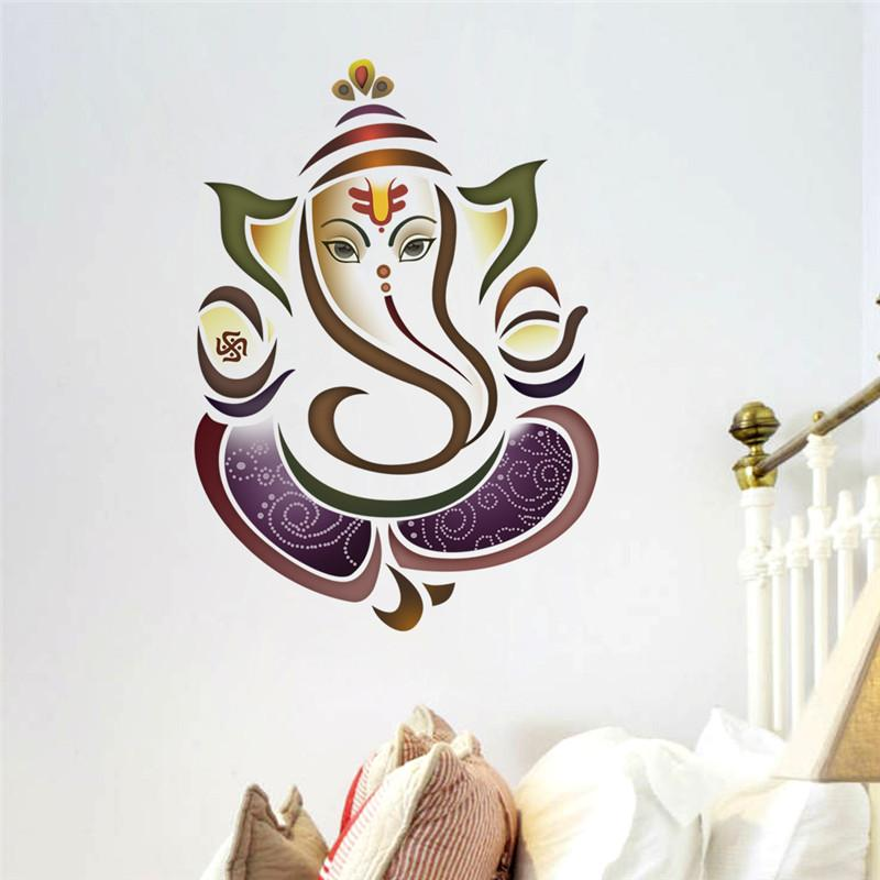 Wall Decals Ganesh Elephant Yoga Studio Decal Home Decor Vinyl - Yoga studio wall decals