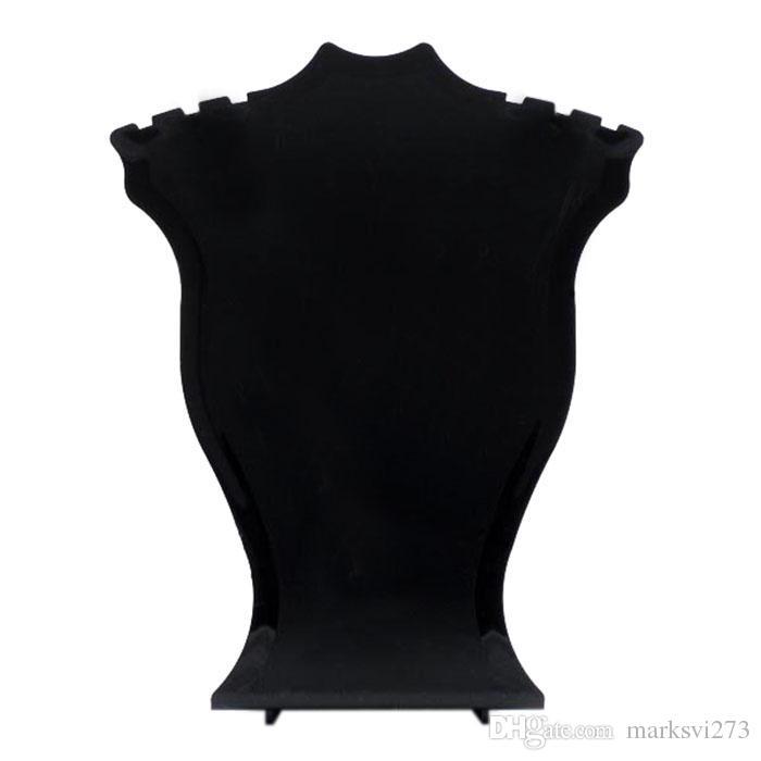 Portacandele gioielli in plastica nera bianca con pendente dell'orecchino. Puntelli scaffali piccoli 12 cm di altezza