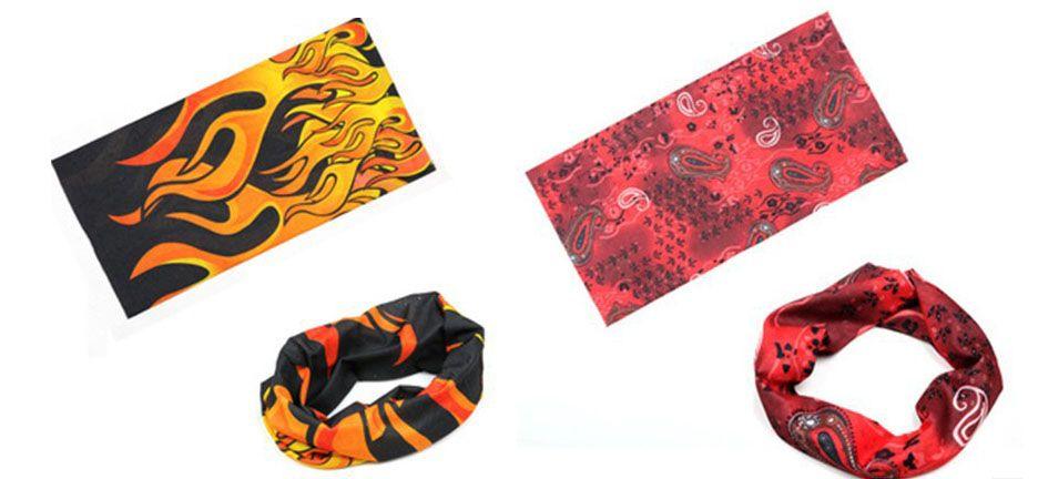 Bandanas Headwear Magic Seamless Multi Functional Kerchief Outdoor Head scarf cycling hip-hop ultraviolet-proof absorbent 50 * 24 cm