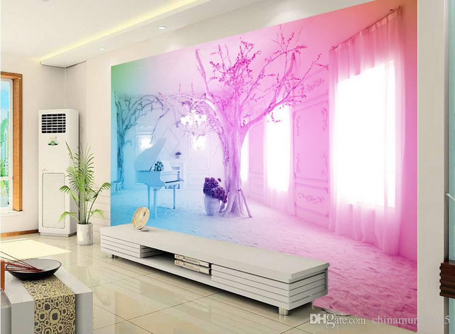 Acquista carta da parati moderna soggiorno 3d sogno rosa for Carta da parati moderna per soggiorno