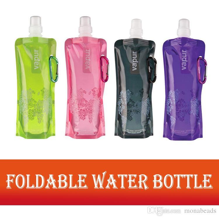 2 Pcs Outdoor Portable Anti-Bottle Sport Water Bag GREEN Water Bottles & Accessories 480ml