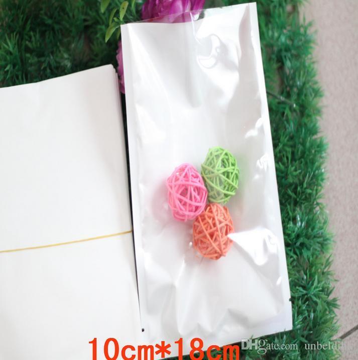 10 * 18 cm 100 adet temizle + beyaz Üst Isı yapışmalı düz çanta takı gıda Için Açılmış plastik kese Nem geçirmez zehirli Paketleme poşeti