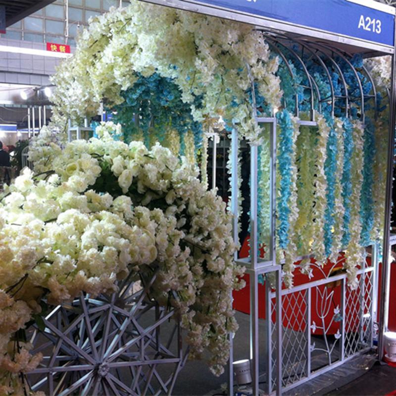 2018 Artificial Hydrangea String Hanging Flower Vine Wedding
