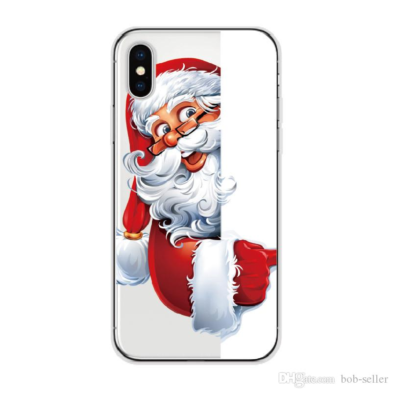 For apple iphone x iphone8 7 plus iphone 6S TPU box Creative Christmas series Merry Christmas gift soft shell cell phone cases protector