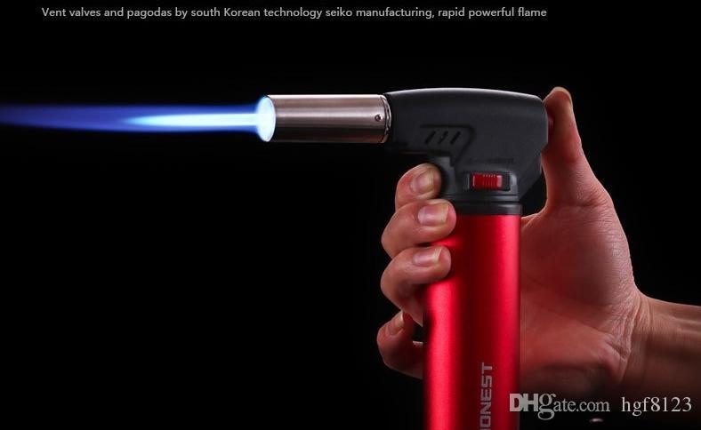 Nouvelle arrivée HONEST 501 Jet réglable pistolet de soudage à gaz Butane Gas rechargeable briquet