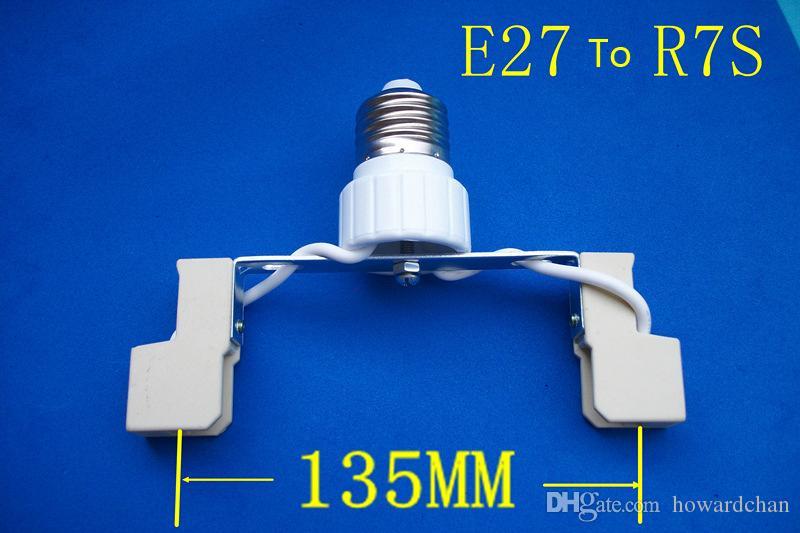 الجملة E27 إلى R7S الصمام الهالوجين CFL لمبة ضوء مصباح محول قاعدة المقبس محول حامل