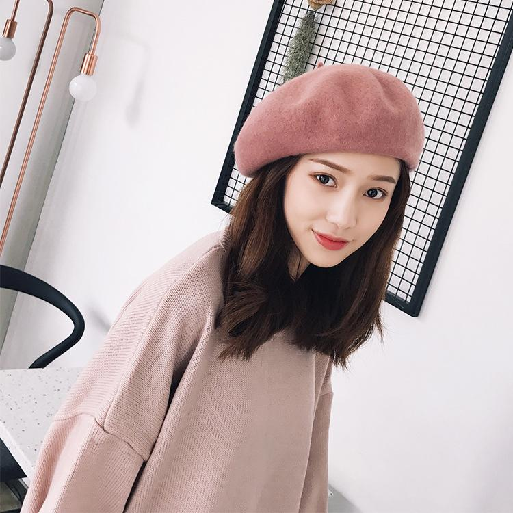 Autumn And Winter Solid Color Wool Beret Women Comfortable Soft Cap Ladies  Cute Fashion Hat UK 2019 From Dream heart b824eca2136