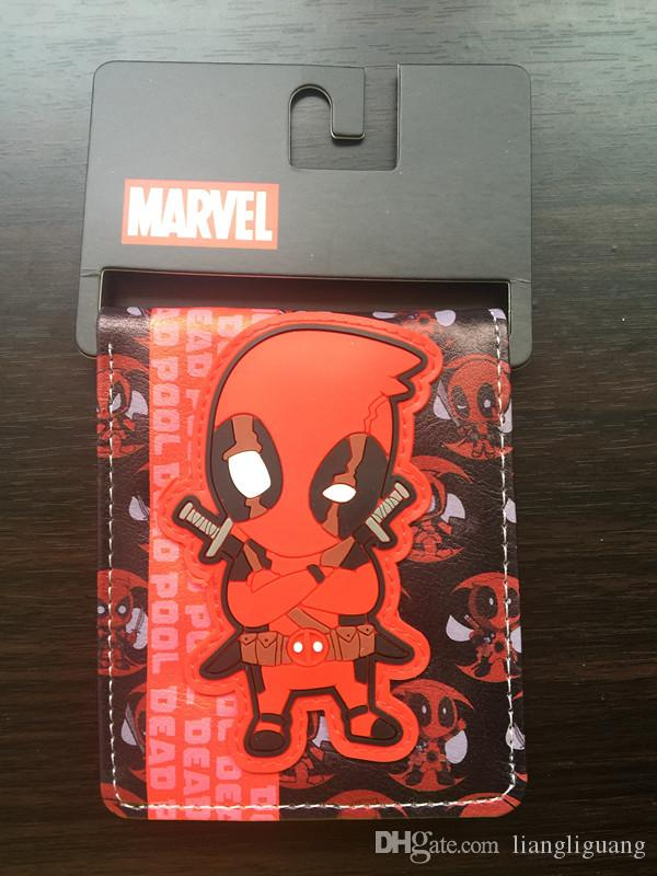 Comics Dc Marvel the Avengers Cartoon Wallet Cute Superman Batman American Captain 3D Purse Logo Cool Wallets For Children Gift