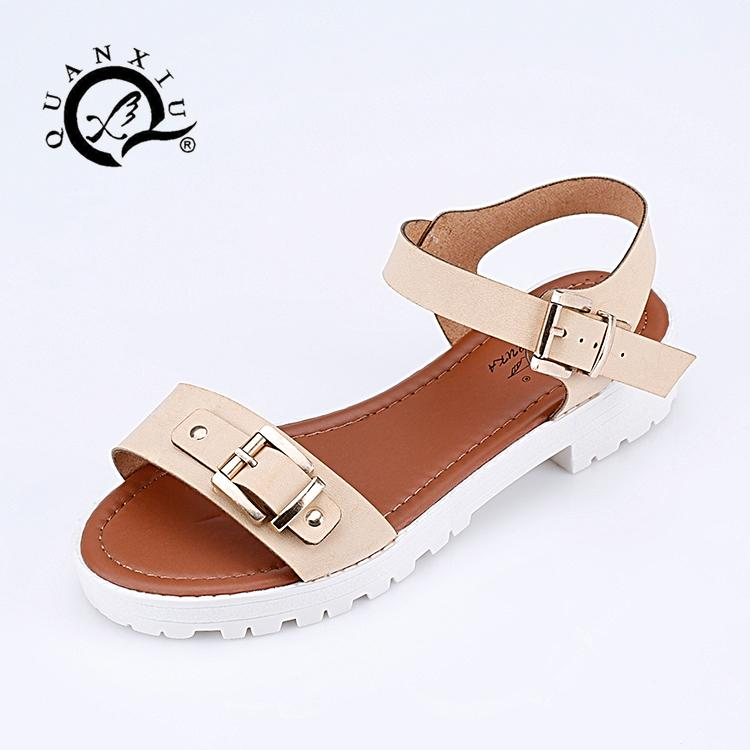 4fbf0e855703 2015 New Style Shoes Women S Summer Sandals Casual Comfortable Buckle Flat  Toe Covering Female Slippers Slip Resistant RK 2 Wedge Sneakers Sandal From  ...