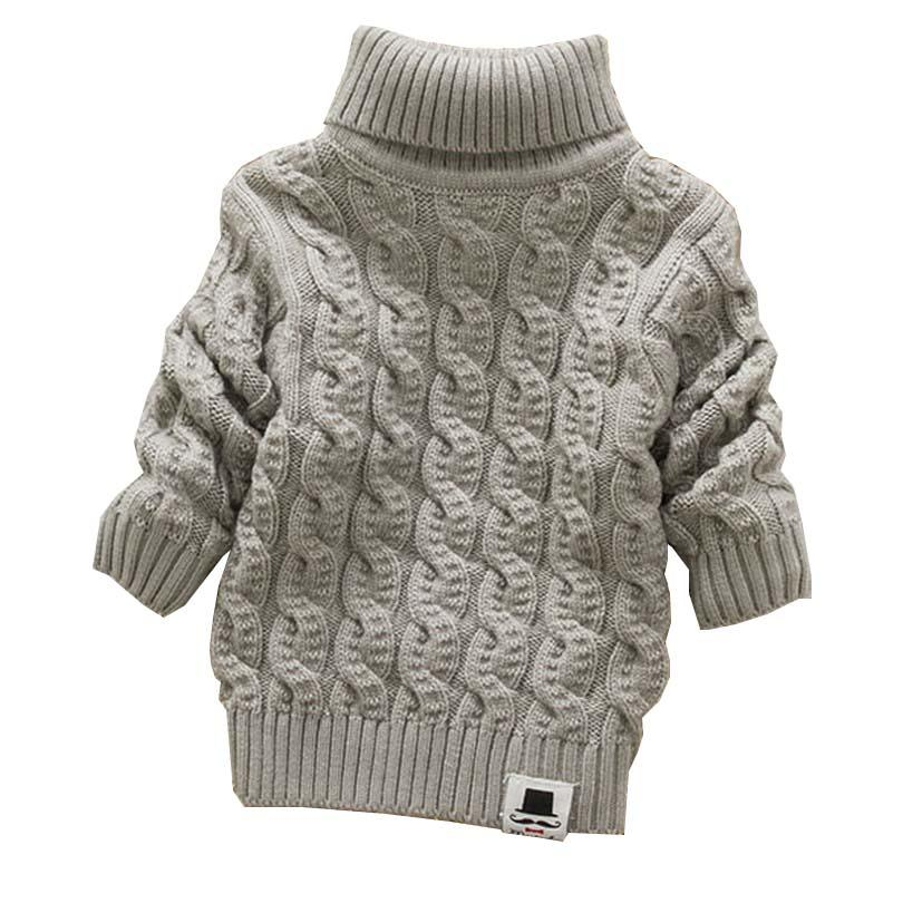 5e6fa6861eac Boys Girls Turtleneck With Beard Label Solid Baby Kids Sweaters Soft ...