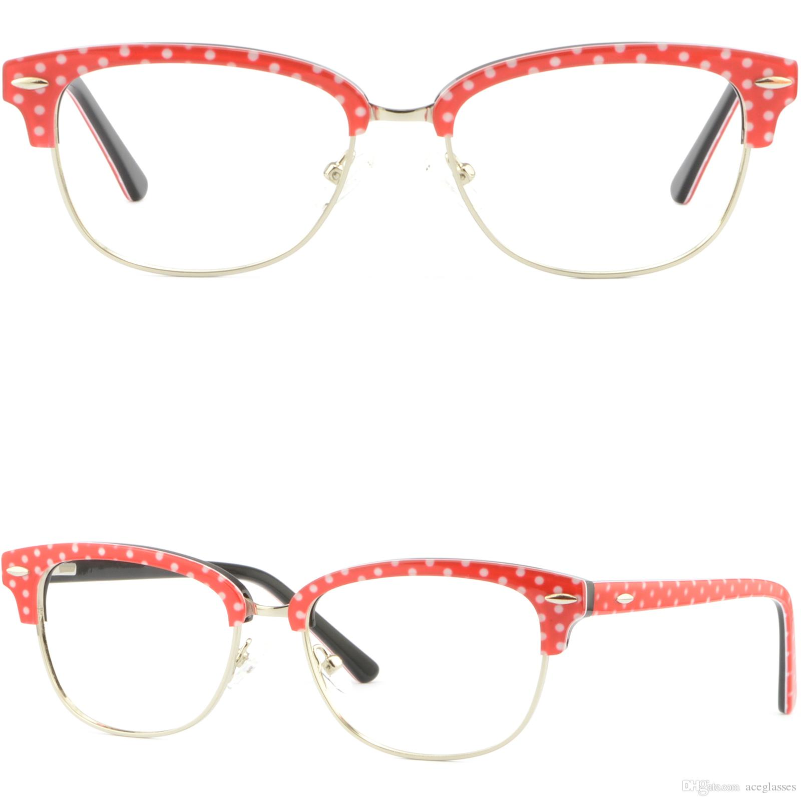 Women\'s Browline Frames Acetate Prescription Eyeglasses Spring ...