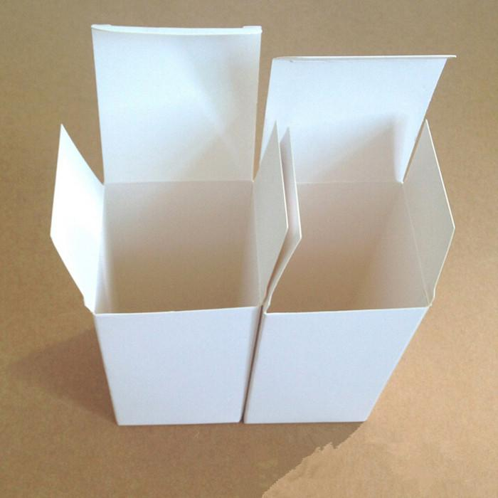 8*8*8cm DIY White Cardboard Paper Box Gift Packaging Box for Jewelry Ornaments Perfume Essential Oil Cosmetic Bottle Wedding Candy Tea Soap