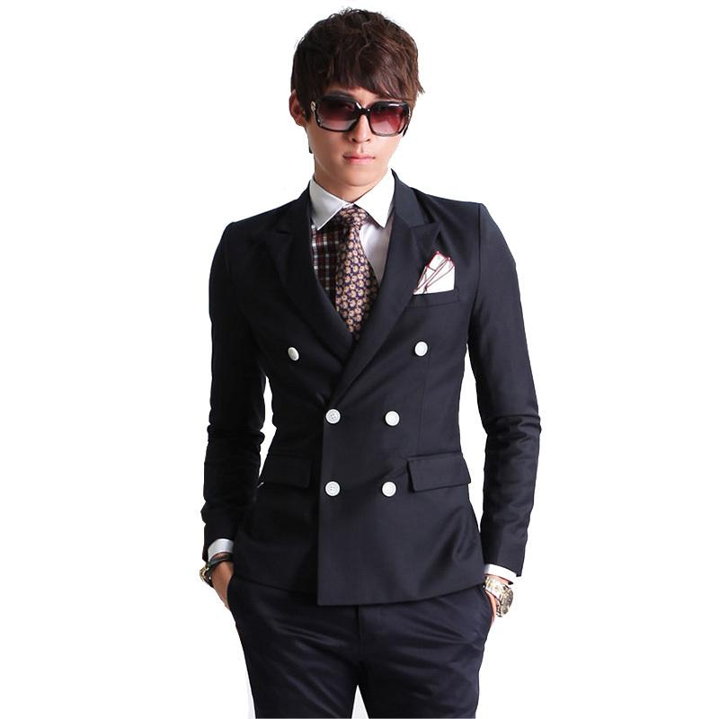 Best Quality 2015 New Fashion Brand Men Blazer Men Double Breasted ...