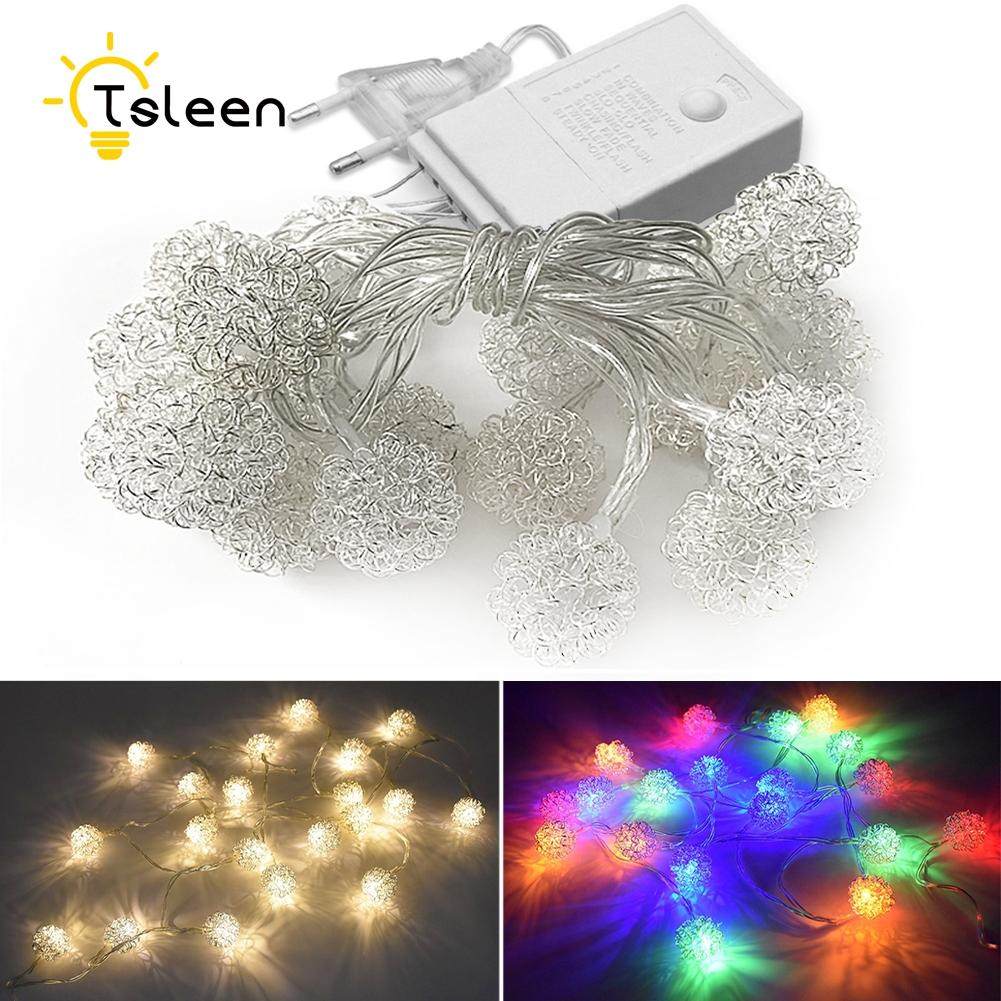 Wholesale Tsleen 5m 40 Led String Light Metal Ball Warm White Fairy ...