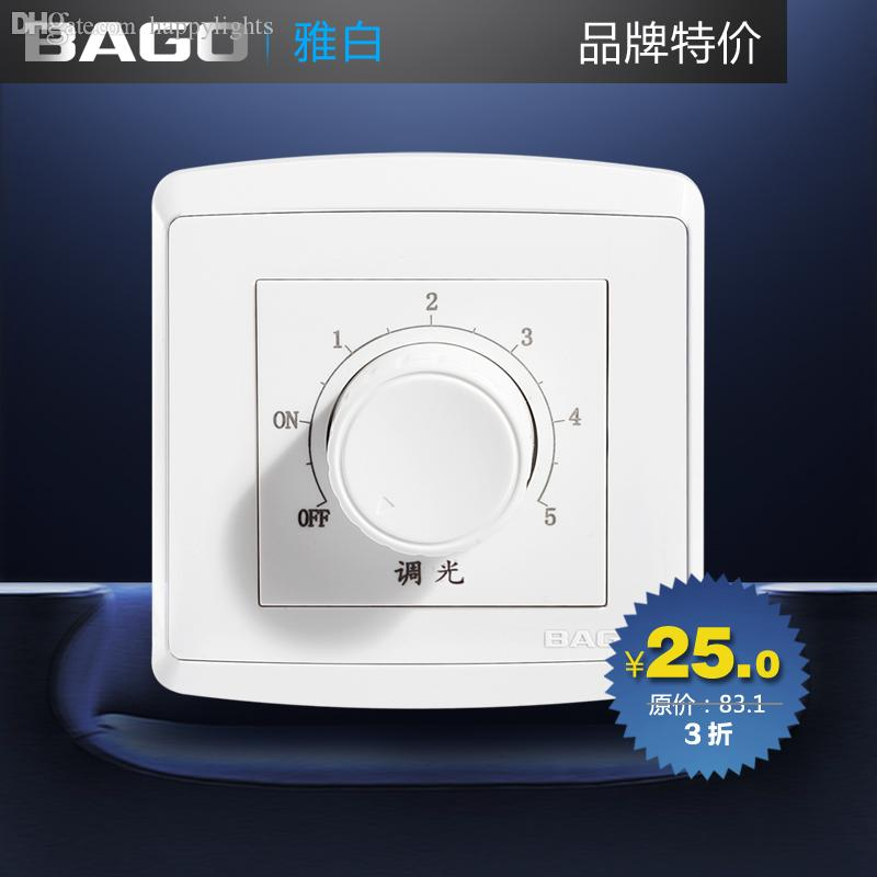 Wholesale-Bago Switch Socket Panel Dimmer Switch Adjust Light Switch ...