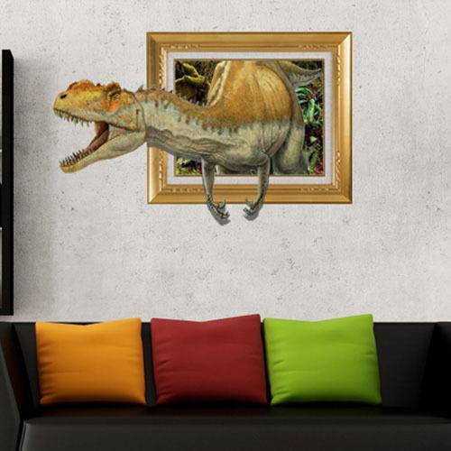 Jurassic World Dinosaur D Printer Removable Wallpaper Wall - Jurassic world wall decals