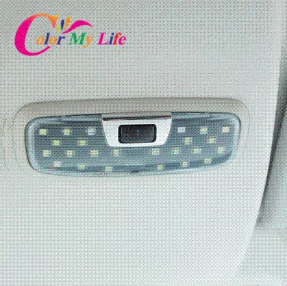 Stainless steel Reading light lamp adjust knob cover sticker case for ford fiesta Ecosport 2009 2011 2012 2013 2014 accessories