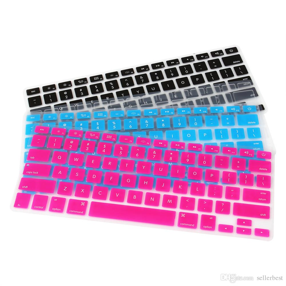 """Keyboard Stickers Silicone Keyboard Cover Skin for Apple for Macbook Pro MAC 13"""" 15"""" 17"""" US Version"""