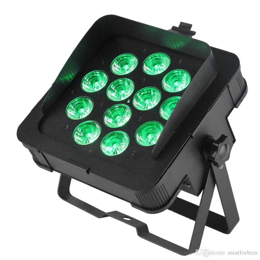 새로운 MF-P1218 Dj LED 슬림 파 조명 6in1 RGBWA UV Led 램프 DMX 6/10 채널 DJ 조명 씻어 빛