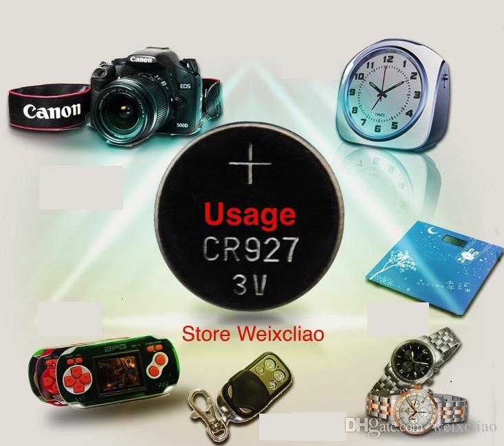 500 unids 1 lote CR927 3V batería de botón de litio li ion CR 927 paquete de bandeja de baterías de moneda li-ion de 3 voltios envío gratis