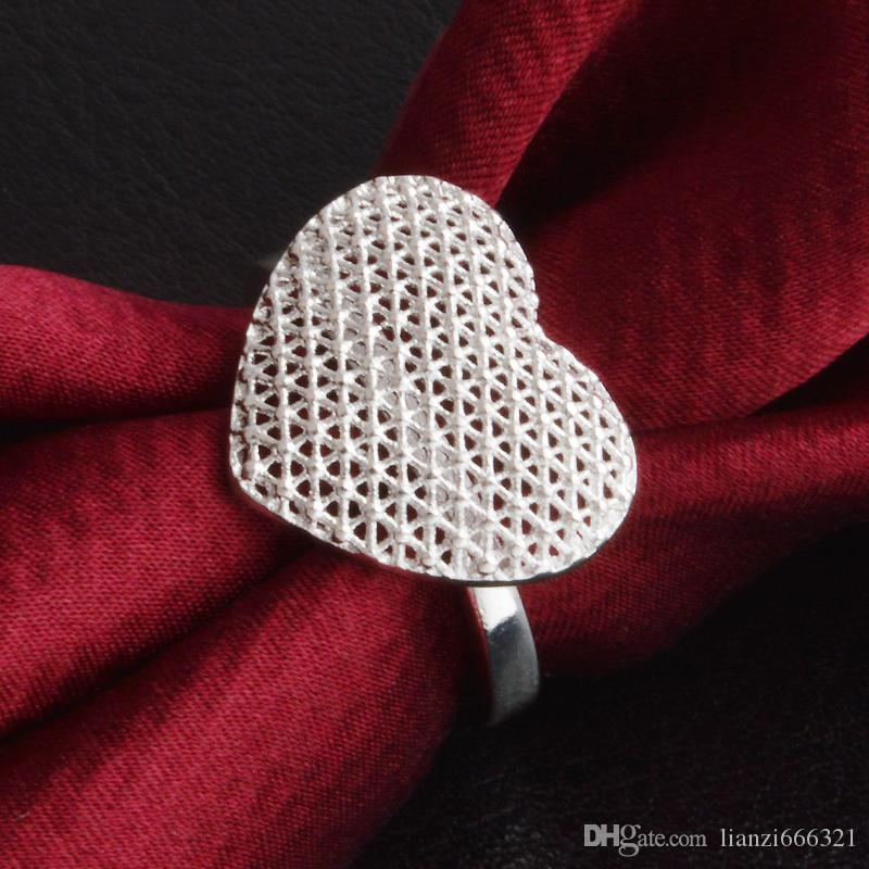 New 925 Sterling Silver fashion jewelry Classic heart ring hot sell girl gift 1491
