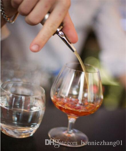 20 قطع جديد شريط نادل النبيذ المدفق تدفق الروح الحرة زجاجة السائل صب صنبور الإغراق سدادات النبيذ المنزل ضروري
