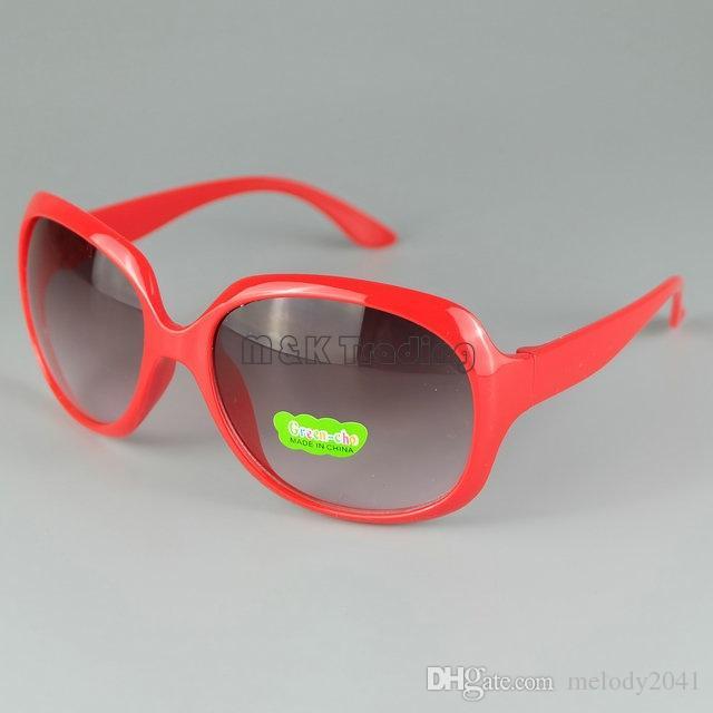 Occhiali da sole bambini Big Around Frame Summer Beach Occhiali da sole Bambini Occhiali da vista UV400 Mix i 24 pezzi / lotto