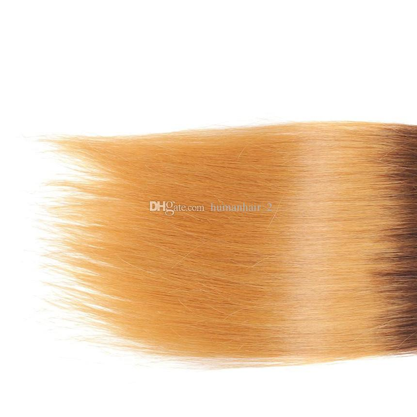 실크 스트레이트 옹 브 인간 머리카락 1b 4 27 말레이시아의 브라질 인 유럽 버진 사람 머리카락 위브 8A 3 단계 톤 헤어