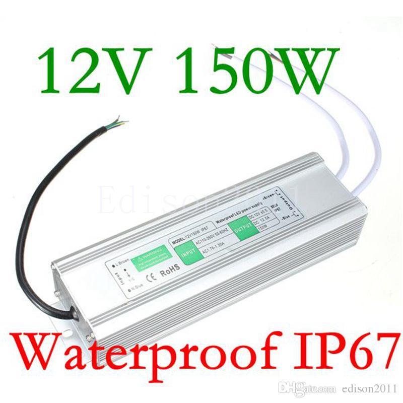 Edison2011 IP67 водонепроницаемый электронный светодиодный драйвер трансформатор питания открытый AC100-265V DC 12V 150W для светодиодной ленты