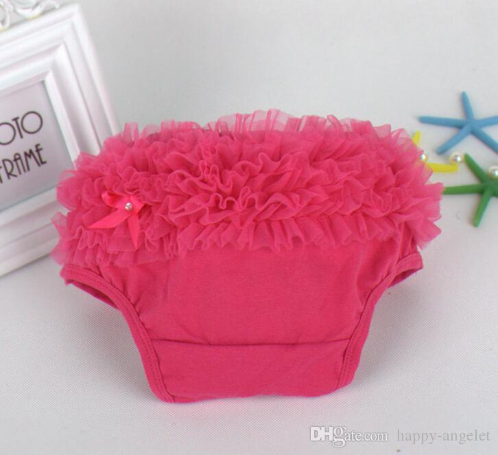 Baby Ruffled Knit Bloomers Ruffles Pettiskirt Panties Girls RUFFLED Bloomer Girl PP Wave Dress PP001