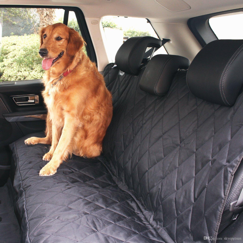 2019 Black Waterproof Hammock Pet Car Seat Cover Black