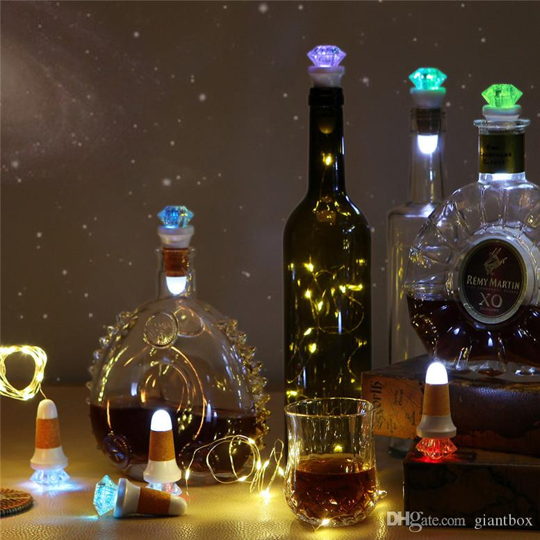 Usb Rechargeable Cork Shape Wine Bottle Light