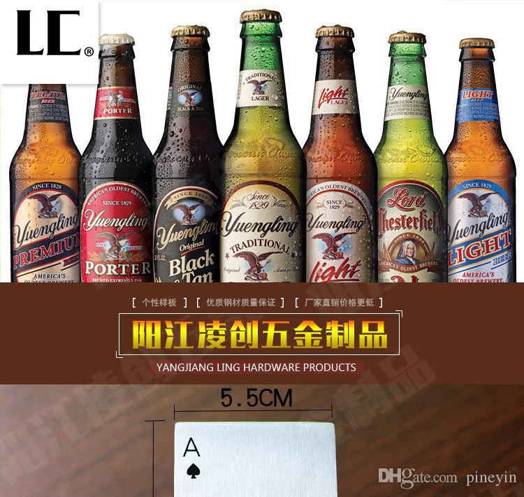 Naipe de abridor de cerveza de acero inoxidable Naipe Ace del regalo de los hombres