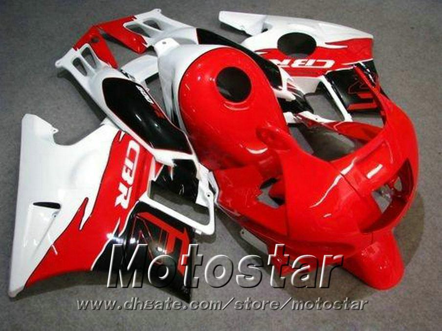 carenados de la motocicleta para HONDA CBR 600 1991 1992 1993 1994 F2 CBR600 91-94 negro blanco rojo plástico RP23 kit carenado