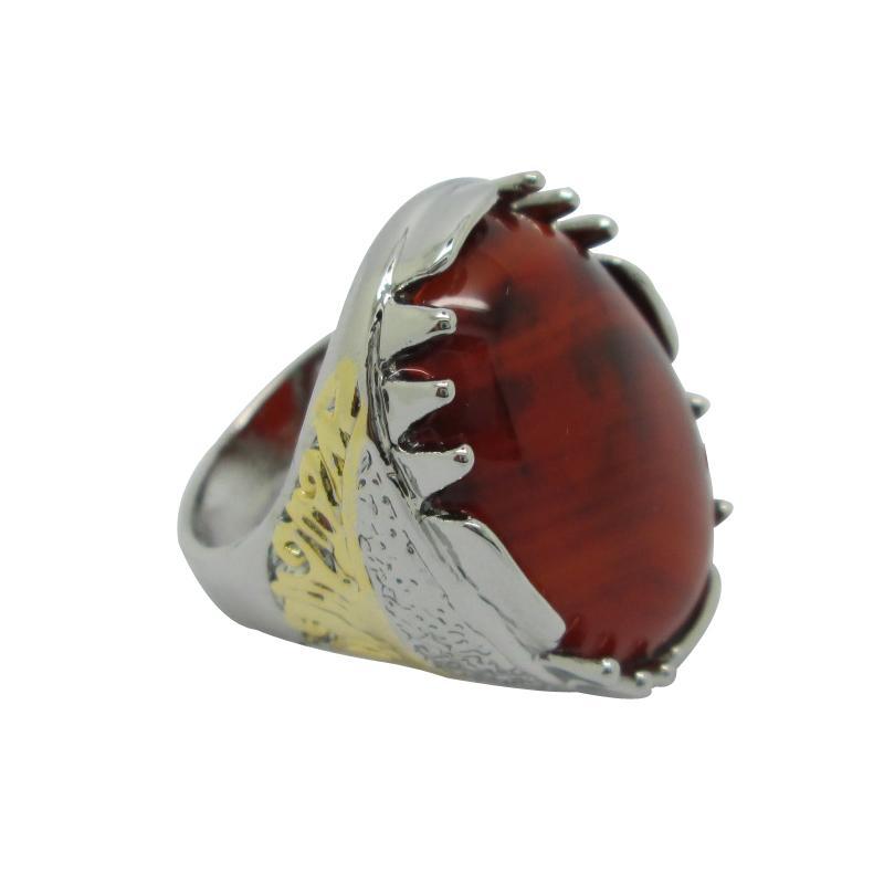 Promoción de dos tonos de indonesio anillos de venta en caliente en línea Únicos anillos de moda para hombres de estilo indonesio anillos loca fábrica caliente directamente Stainl