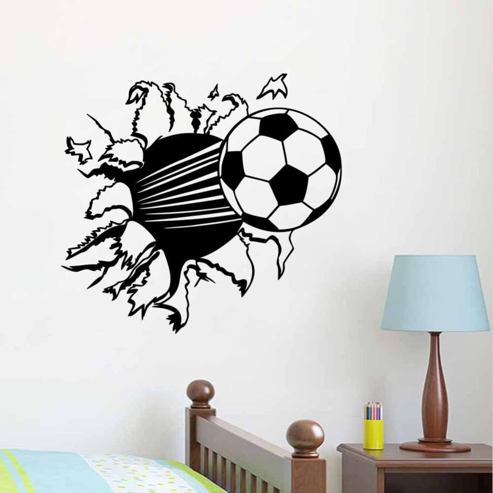 Elegant 55*44cm 3d Soccer Ball Football Vinyl Wall Sticker Decal Kids Room Decor  Sport Boy Art Bedroom Home Wall Stickers Train Wall Decals Train Wall  Stickers From ... Pictures Gallery