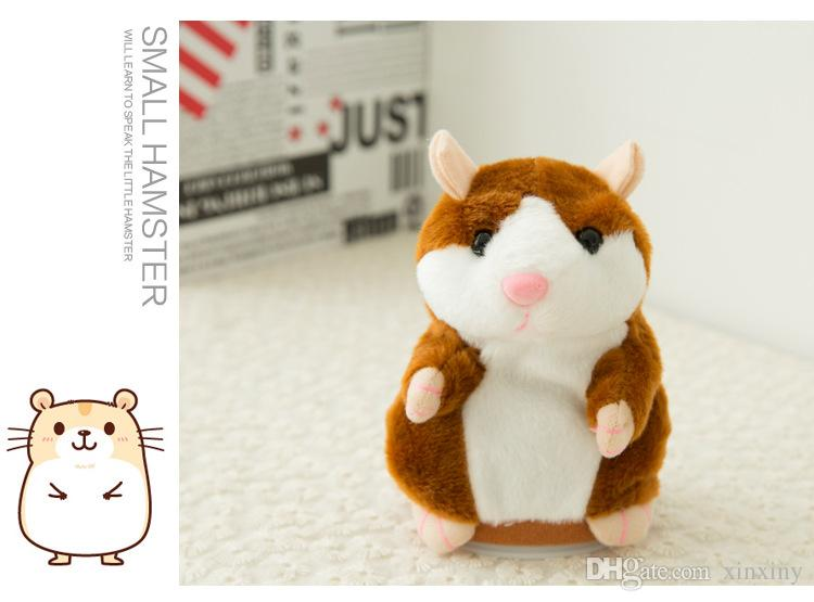 Cute 15cm Anime Talking Hamster Plush Cartoon Doll Toys Kawaii Speak Talking Sound Record Hamster Talking Christmas Gifts for Kids Children
