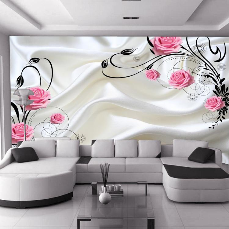 Hot Sale Can Be Customized Large Mural 3d Wallpaper Bedroom Living Room  Modern Fashion Rose Red Flowers Roses Milky Tv Background Wall Paper 3d  Wallpaper 3d ...