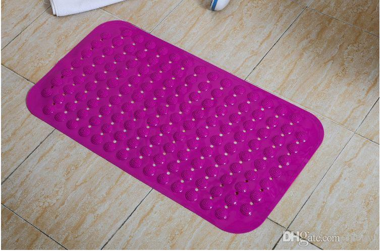 Alfombras de baño antideslizante Masaje Mats colorido Baño perforado de plástico PVC cojín seguro con ventosas