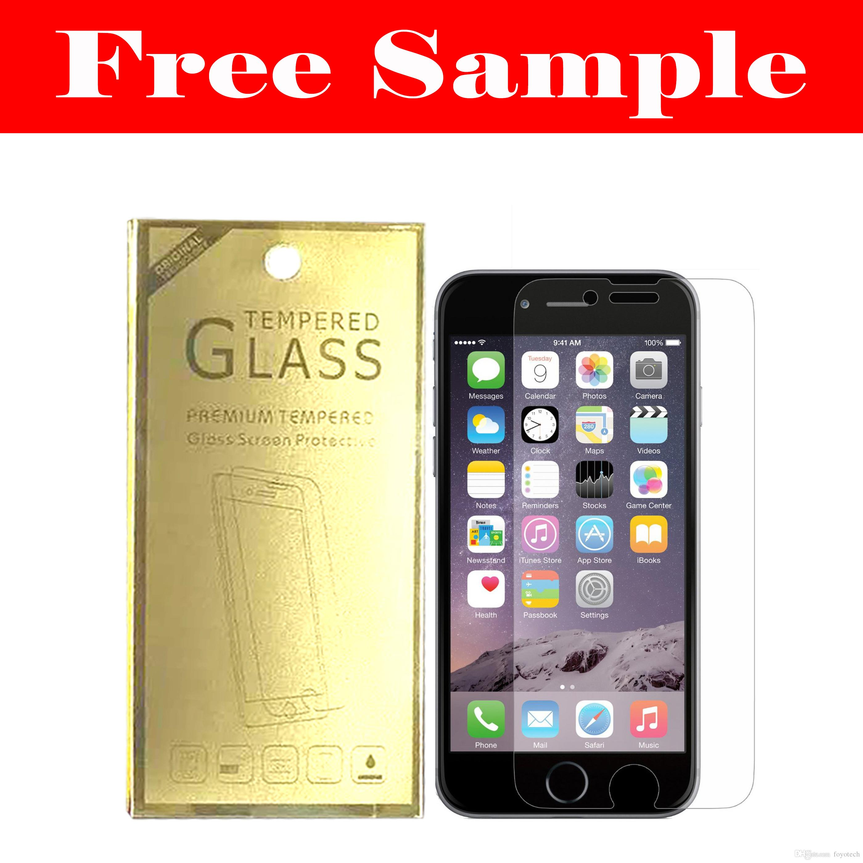 Free Sample For Iphone 6 Plus 5s 4 Samsung Galaxy S6 S5 S4 Note5 3 Lenovo Vibe X S960 With Corning Gorilla Glass Tempered Film Screen Protector Retailbox Package Screenmate