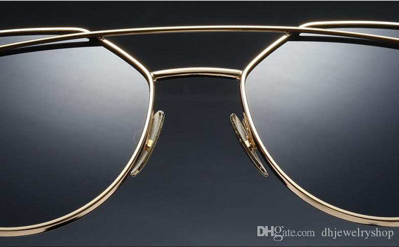 Женщины Ретро Металлический Каркас Зеркальные Очки Негабаритных Cat Eye Очки