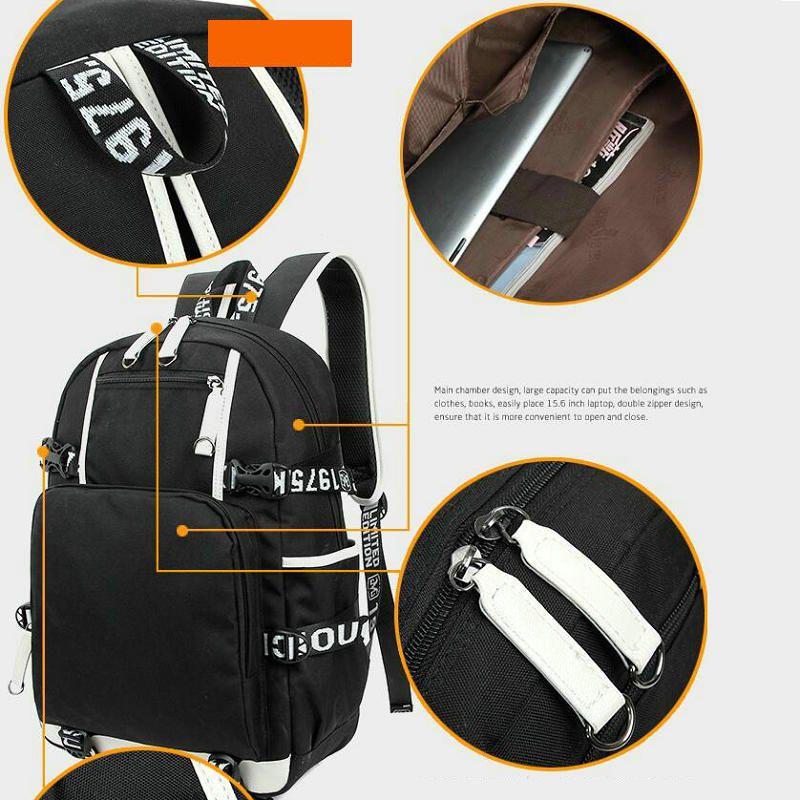 Queda Out boy Backpack FOB Pacote de Metal Hard Metal Saco Saco Rock Packsack Laptop Mochila Sportsbag Daypack