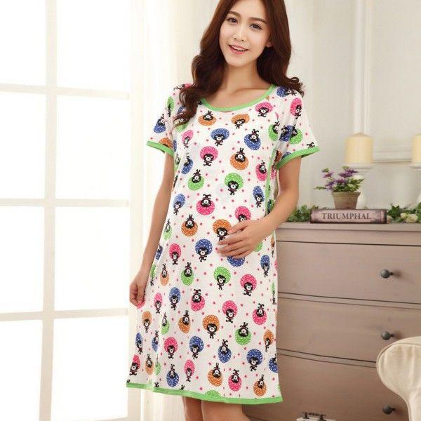 Women\'s Nursing Sleepwear Maternity Pajamas Pregnant Breastfeeding ...