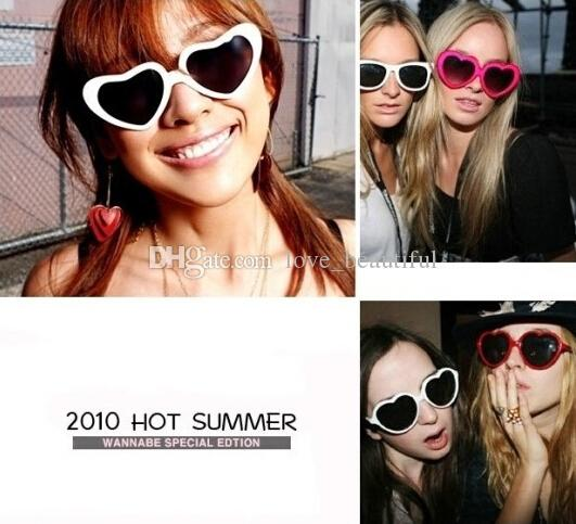 Hot Sales Heart-shaped sunglasses candy colors,men and women general sun glasses,tide glasses!