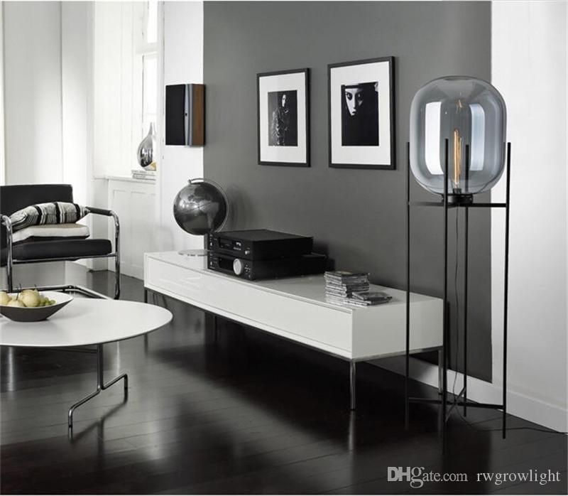 Nordic post-moderna simple de cristal Lámparas de pie Lámpara estándar creativo lámparas de mesa para sala de estar dormitorio Bar Restaurante AC110-220V